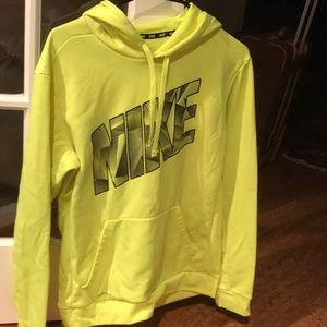 Neon yellow Nike hoodie
